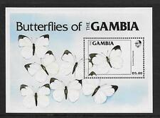 1984 Gambia: Butterflies Minisheet SG MS572  Unmounted Mint (MNH)