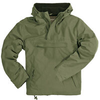 WINDBREAKER HOODED MENS WIND RAIN JACKET WITH WARM FLEECE SURPLUS OLIVE S-XXL