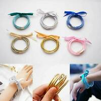 Fashion Glitter Bangles Set Summer Glitter Filled Silicone Jelly Bracelets