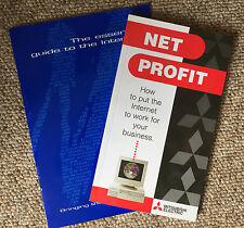 2 x guías de Internet para las empresas Vintage, Mitsubishi beneficio neto' ' & UUNET/PIPEX