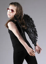 Kids Size Black Feather Angel Wings