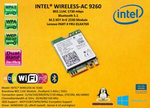 Intel Wireless-AC 9260.NGWG.NV 802.11AC NGFF M.2 1730Mbps 01AX769 01RKV5 BT 5.1