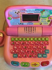 Vtech Tote 'N Go Pink Laptop with Educational Toddler Learning Toy Game-Tested