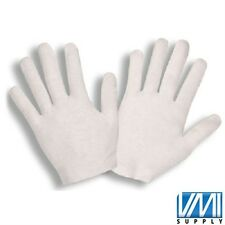 12 Pair White Inspection Cotton Lisle Gloves Coin Jewelers Medium-Weight Waiter