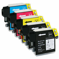 5 Pack LC61 Ink Set For Brother MFC-495CW MFC-J415W MFC-295CN MFC-290C
