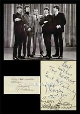 THE BEATLES JOHN LENNON McCARTNEY HARRISON STARR & ED SULLIVAN SIGNED (PRINTED)