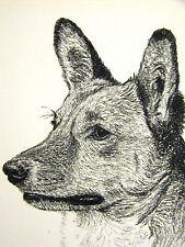 Francis Wardle 1935 Welsh Corgi Vintage Dog Print Matted