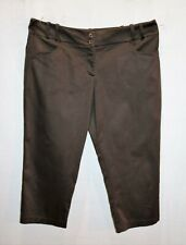 Morrison Brand Chocolate Stretch Crop Pants Size L #AN02