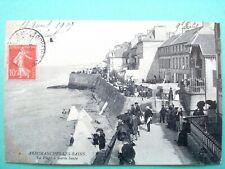 14 ,arromanches les bains ,la plage à marée haute en 1907