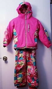 Snow Dragons Boulder Gear Girls Ski Snow Jacket and matching Bibs Pink Size 5