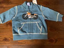 Nwt Gymboree Summer Wheels Blue Motorcycle Zip Jacket 6 9 12 Months