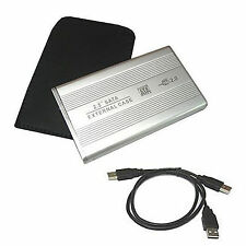 2.5 SATA to USB HARD DRIVE CADDY HDD CASE ENCLOSURE, SILVER COLOR