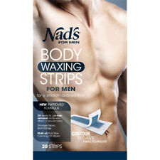 * NAD'S 20 BODY WAXING STRIPS FOR MEN FOR A SMOOTH DEFINED LOOK HAIR REMOVAL