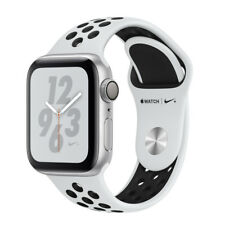 Apple Watch Series 4 Nike+ 44mm Aluminiumgehäuse in Silber mit Sportarmband in Pure Platinum/Schwarz (GPS) - (MU6K2FD/A)