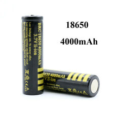 2Pcs 3.7V 18650  4000mAh Rechargeable Battery  Li-ion Lithium Cell For Flashligt