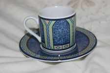 Paire de vintage Tognana Italienne Porcelaine Tasses À Espresso Green