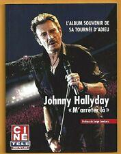 JOHNNY HALLYDAY : L'ALBUM SOUVENIR DE SA TOURNEE D'ADIEU (EXCELLENT ETAT !!!)