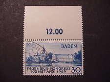 Franz. Zone - Baden 46 mit Oberrand, gest. + geprüft Schlegel D.BPP
