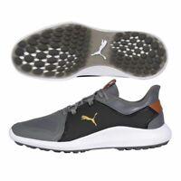 Puma Ignite Fasten8 Pro Golf Shoes 194466 - Quiet Shade/Gold/Black - New 2021