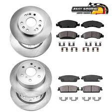 Front+Rear Rotors Ceramic Pads For Avalanche Tahoe Silverado Escalade Yukon