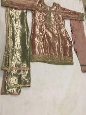 pakistani indian bridal wedding dress Mehndi  Formal Shalwar Kameez Duppata