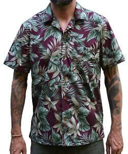 Herren Hawaii Shirt Hemd Hawaiihemd magnum Tikistyle Tiki geblümt Hibiskus Retro