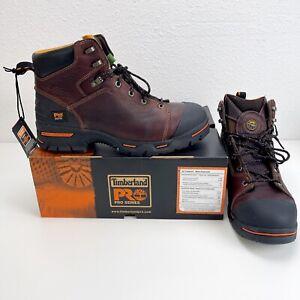 "Timberland Pro Men's Endurance 6"" Steel Toe Work Boots Brown 52562"