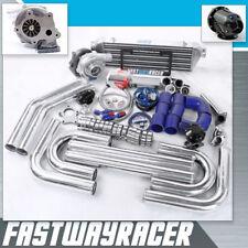 Universal T3/T4 T04E Hybrid Turbo Kit Turbo Starter Kit Wastegate Intercooler