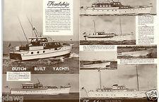 1953 PAPER AD Double Sheet Fold Out Feadship 55' Capri 122' 45'  91' Dutch Built