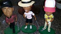 Tiger Woods Upper Deck Nike 2002 Bobble Head Tiger's Quest Rare Full Set Damaged