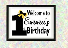 Emma Wiggle - The Wiggles Personalised Birthday Sign Poster Welcome Decoration