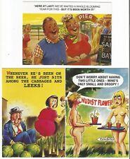 3 X Comic Seaside Postcards By Bamforth, #a10