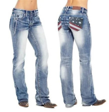 American Flag Stretch Washed Bootcut Jeans
