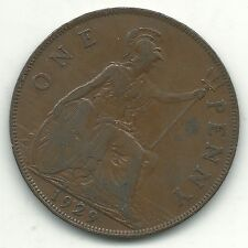 A HIGH GRADE 1929 GREAT BRITAIN ENGLISH LARGE PENNY COIN-NOV402