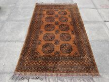 Old Hand Made Traditional Golden Afghan Tribal Wool Gold Large Rug 210x128cm