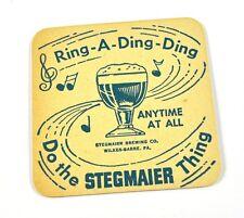 1950's Stegmaier USA Beer Bier Bierdeckel Untersetzer Coaster Ring-A-Ding-Ding