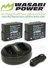 Wasabi Power Battery (2-Pack) and Charger for Panasonic DMW-BLC12, DMW-BLC12PP
