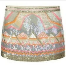 GORGEOUS ALL SAINTS CHAN SEQUIN EMBELISHED PARTY SKIRT,SIZE UK12, EU40, RRP £215