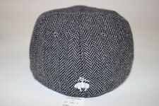 NWT BROOKS BROTHERS Size L/XL Mens Gray Herringbone Wool Blend Logo Baseball Hat