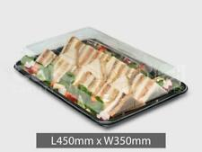 10X Large Plastic Platter Trays Buffet Catering Party Food Sandwich (With Lids)