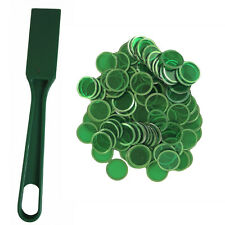 Green Magnetic Bingo Wand and 100 Chips