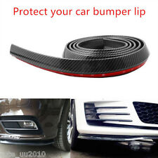 2.5M Front Bumper Lip Splitter Chin Spoiler Carbon Fiber lip valance 3M attached