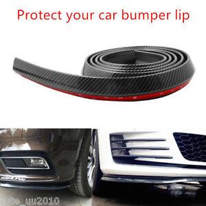 2.5M Front Bumper Lip Splitter Chin Spoiler Carbon Fiber lip valance 3M attached