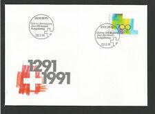 Suisse FDC 1991 oeuvre originale Croix suisse oblit. Bern /L3308