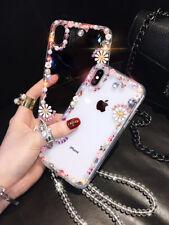 Hot Diamond Flower Chain Women Girl Glitter Fashion Case Cover For Various Phone