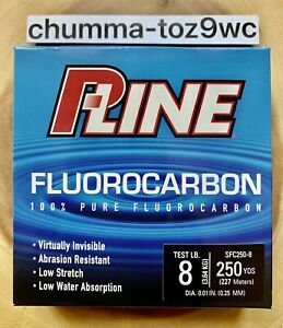 P-Line 100% Pure Fluorocarbon Fishing Line, Factory Direct, Bass, Free Shipping!