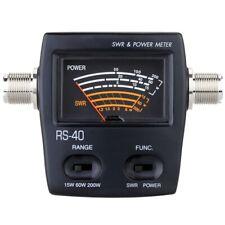 Portable Swr Standing Wave Ratio Watt Power Meter For Ham Mobile Vhf Uhf Si