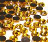 700 Hotfix Strasssteine 3mm SS10 GOLD TOPAS GLAS Bügelsteine BEST 13