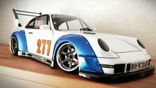 1/10 RC Car Drift Body Shell PORSCHE RWB Wide Body  200MM w/ Light Buckets