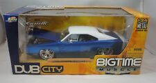 Jada Dub City Big Time Muscle 1970 Dodge Charger Blue & White 1/24 Diecast Car